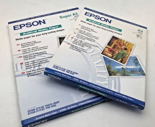 Epson Archival matte A3 and A3+ printing paper